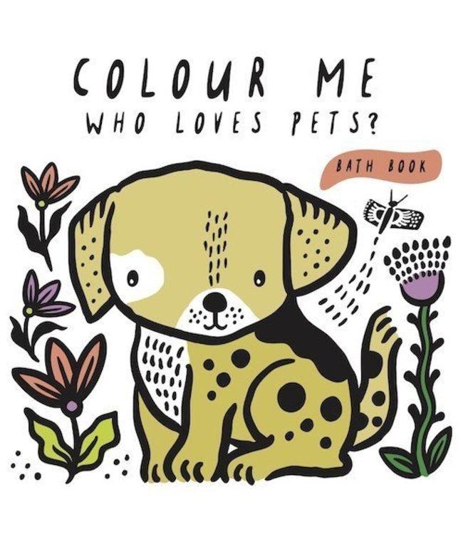 Wee Gallery Bath Book Color me Pets