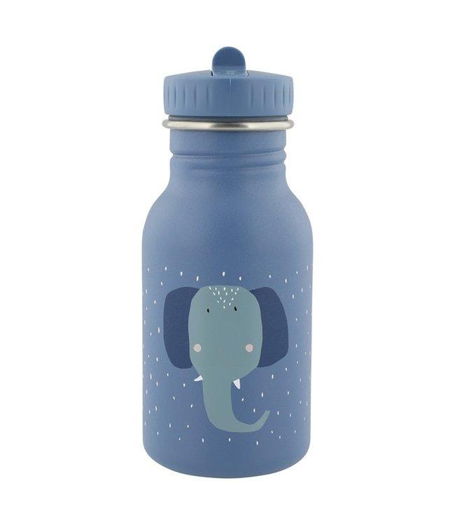 Trixie Trixie RVS Drinkfles met rietjes dop 350 ml Mrs Elephant