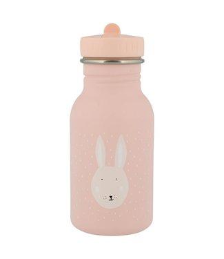 Trixie Trixie RVS Drinkfles met rietjes dop 350 ml Mrs Rabbit