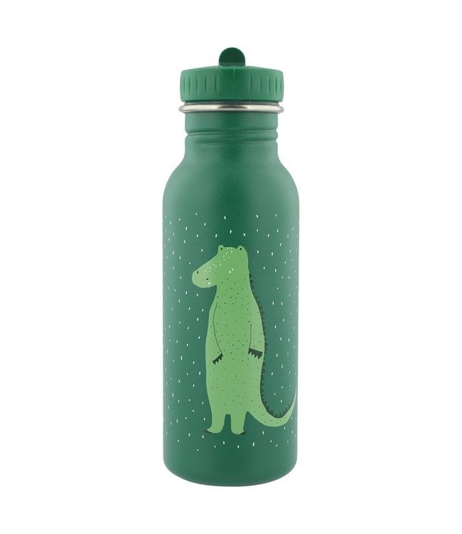 Trixie Trixie RVS Drinkfles met rietjes dop 500 ml Mr Crocodile