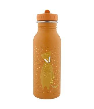 Trixie Trixie RVS Drinkfles met rietjes dop 500 ml Mr Fox