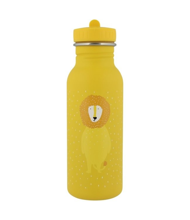 Trixie Trixie RVS Drinkfles met rietjes dop 500 ml Mr Lion