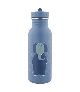 Trixie Trixie RVS Drinkfles met rietjes dop 500 ml Mrs Elephant