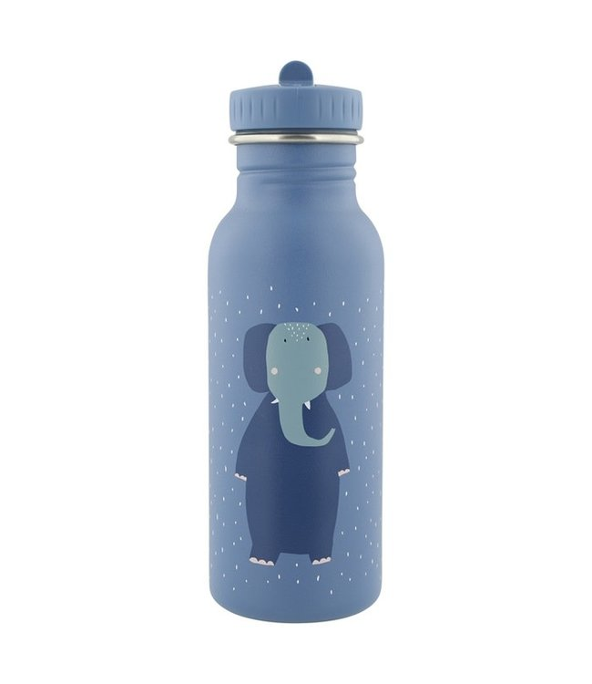 Trixie Trixie RVS Drinkfles met rietjes dop 500 ml Mrs Elephant