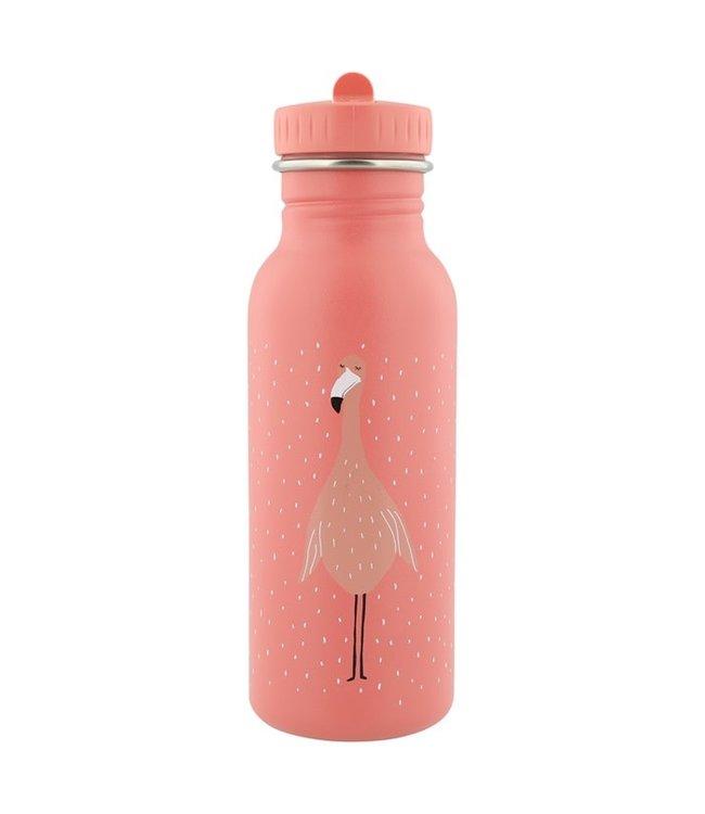 Trixie Trixie RVS Drinkfles met rietjes dop 500 ml Mrs Flamingo