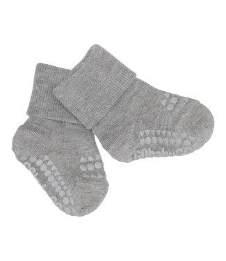 Go baby go Bamboe Sokken met anti-slip Grey Melange