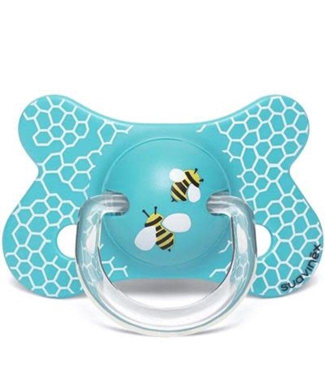 Suavinex Speen - Siliconen -Fysiologisch - +4/18M Honeycomb Blue