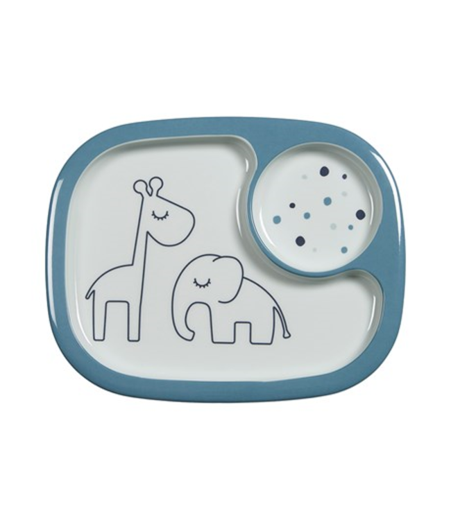 Done by Deer Dreamy dots Mini Compartment Plate, blue Done by Deer
