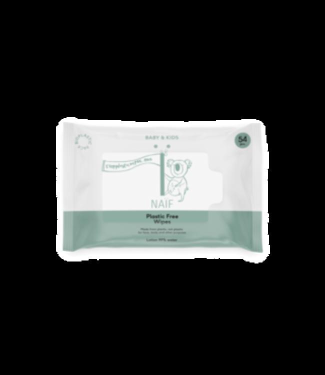 Naif Naif Billendoekjes - Plastic free Baby Wipes for face, body and bum - 54 doekjes per pak
