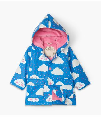Hatley Hatley Baby Regenjas Cheerful Clouds - Colour Changing