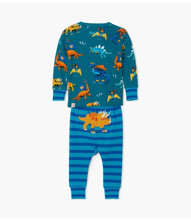 Hatley Superhero Dinos tweedelige pyjama - Organic Cotton