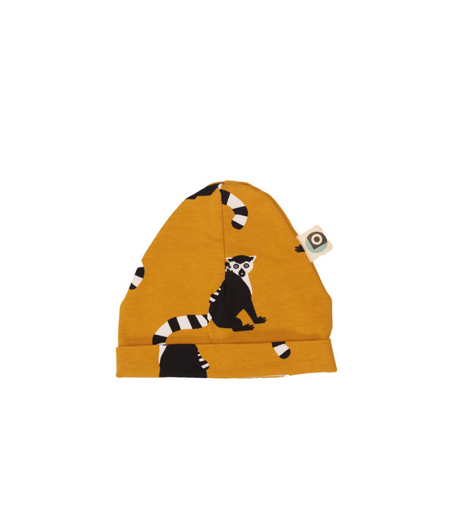 Onnolulu Babymutsje GOTS Katoen Lemur Yellow