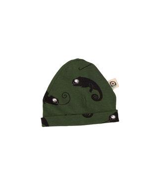 Onnolulu Babymutsje GOTS Katoen Chameleon Green