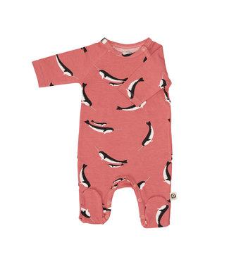 Onnolulu Boxpakje - Pyjama met voetjes GOTS Katoen Narwhal Cherry Pink