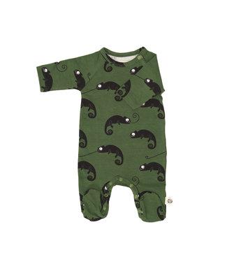 Onnolulu Boxpakje - Pyjama met voetjes GOTS Katoen Chameleon Green