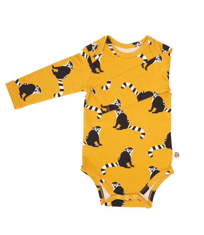 Onnolulu Rompertje lange mouwen GOTS Jersey Katoen Lemur Yellow