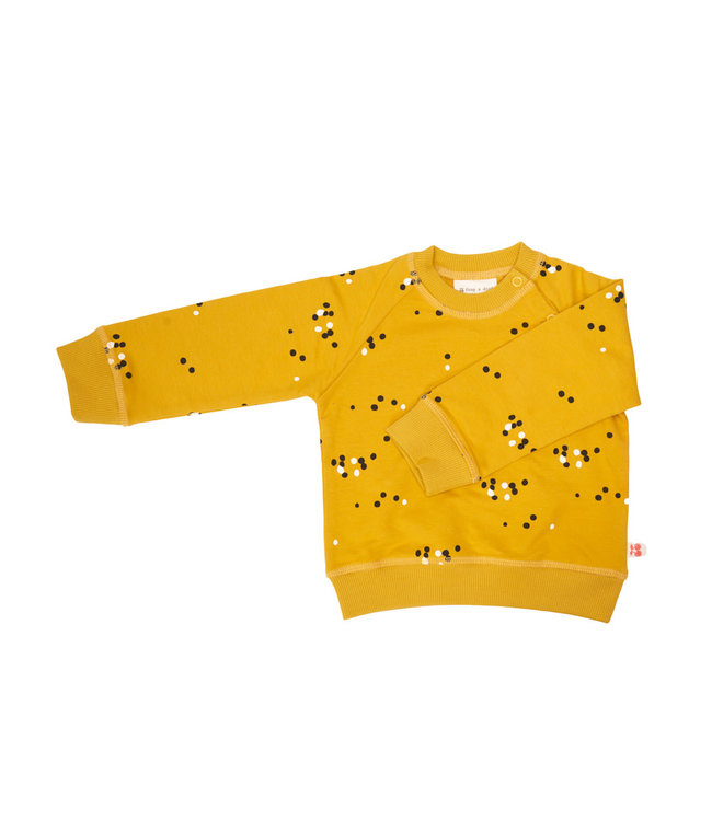 Froy & Dind Sweater GOTS Katoen Dots Mustard