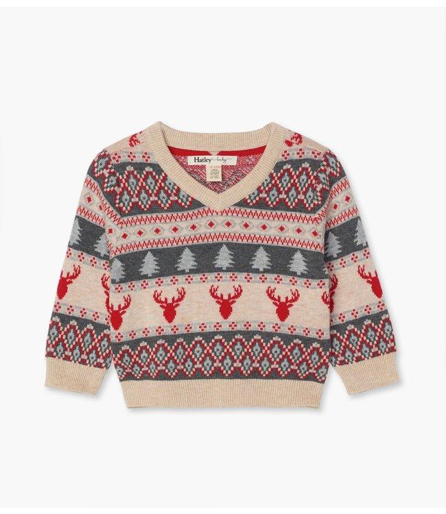 Hatley Baby sweater Fair Isle Stags