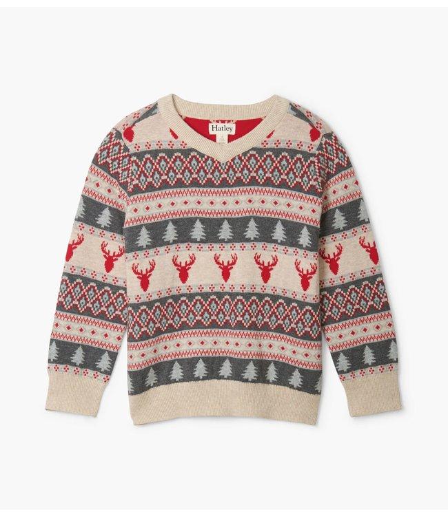 Hatley Kids sweater Fair Isle Stags