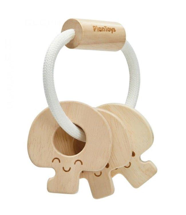 Plan Toys Baby sleutelbos rammelaar - van duurzaam hout