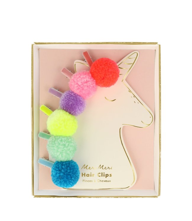 Meri Meri Unicorn pompom hair clips