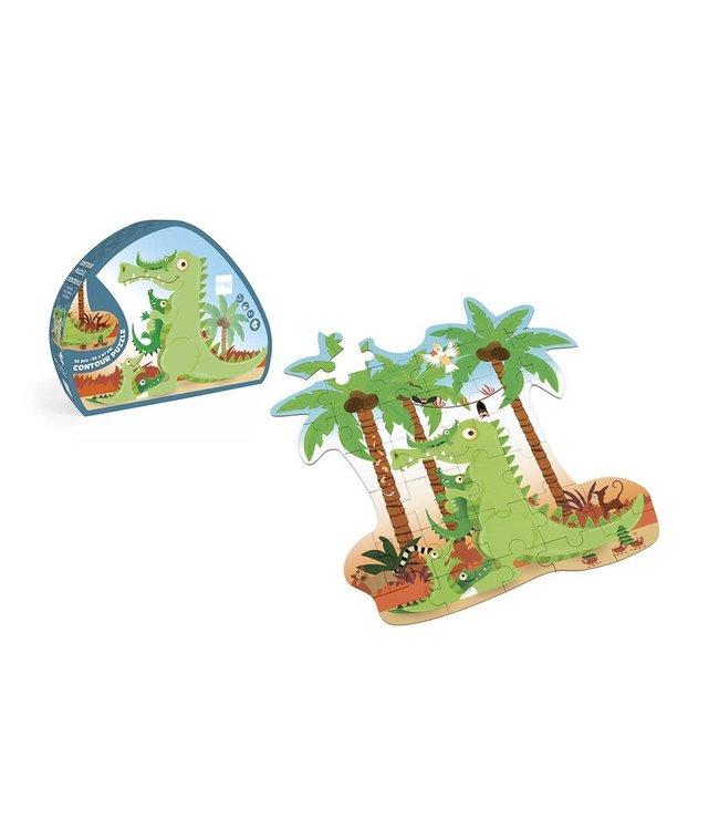 Contour puzzel krokodil 3+