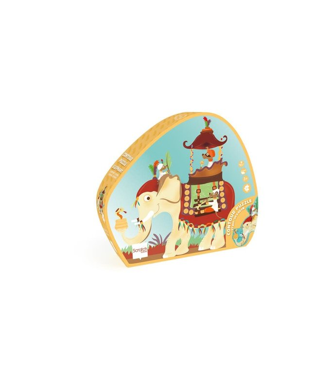 Contour puzzel olifant 3+