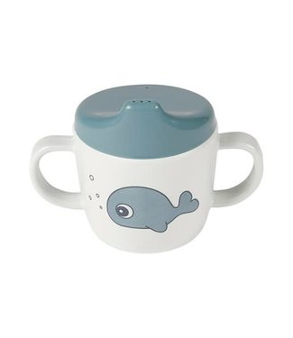 Done by Deer Done by Deer 2-handle spout cup Sea Friends Blue