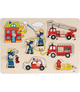 Goki Houten knoppuzzel Brandweer