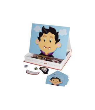 Goki Magneet spel gekke gezichten jongen - 66 delig