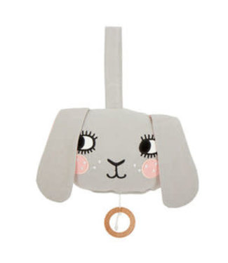Roommate Bunny Music Mobile - Organic Cotton