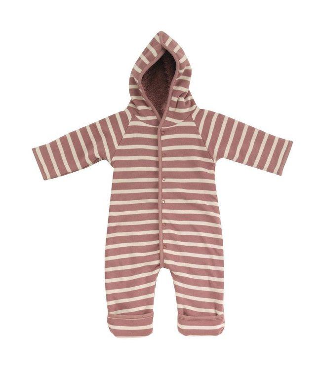 Pigeon Winterpak GOTS Katoen - Snuggle suit Breton stripe Rose & Stone