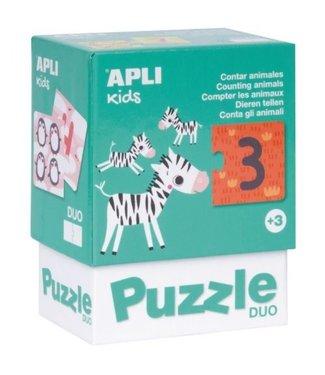Apli Duo Puzzel Dieren Tellen