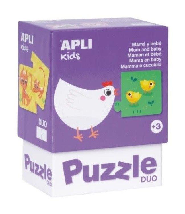 Apli Duo Puzzel Mama en Baby