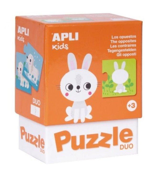 Apli Duo Puzzel Tegengestelden