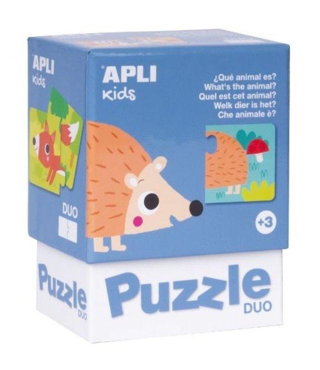 Apli Duo Puzzel Welk dier is het?