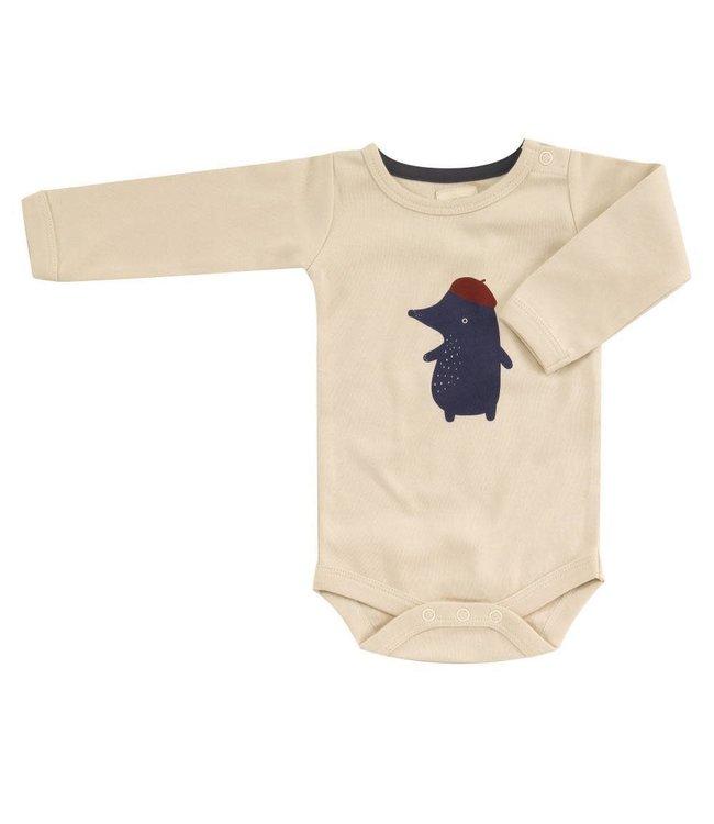 Pigeon Rompertje lange mouwen GOTS katoen Mole - Red Baret Single print