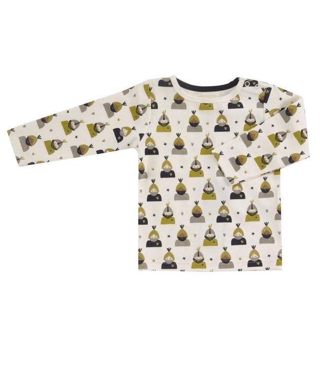 Pigeon T-shirt lange mouwen GOTS katoen Knight - Olive All over print