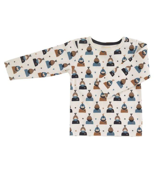 Pigeon T-shirt lange mouwen GOTS katoen Knight - Marlin All over print