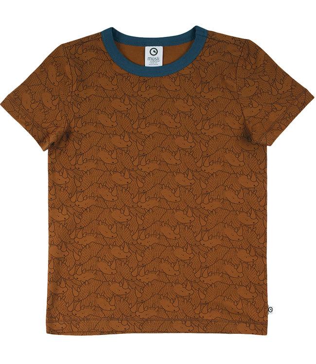 Muesli T-shirt Kids GOTS katoen Rhino