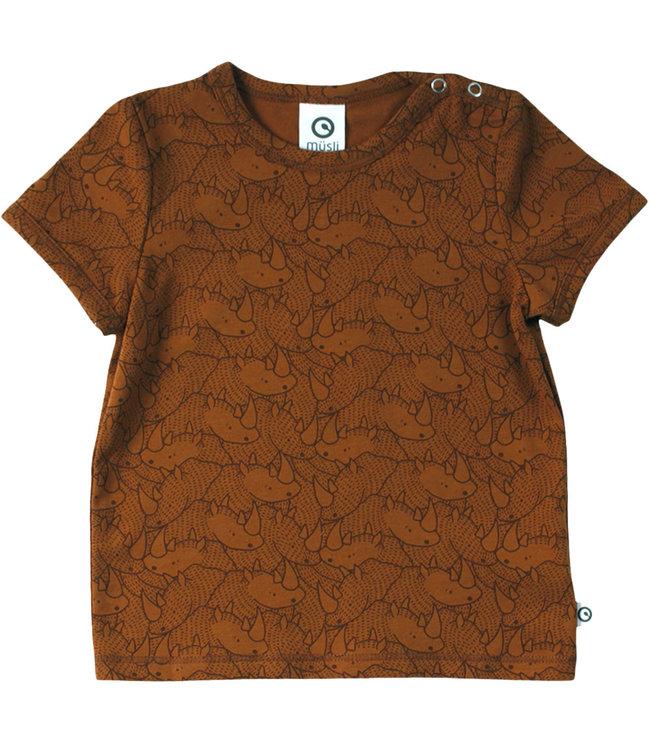 Muesli T-shirt Baby GOTS katoen Rhino