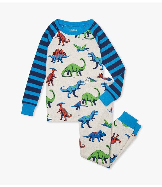 Hatley Friendly Dinos tweedelige pyjama - Organic Cotton