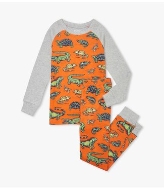 Hatley Aquatic Reptiles tweedelige pyjama - Organic Cotton