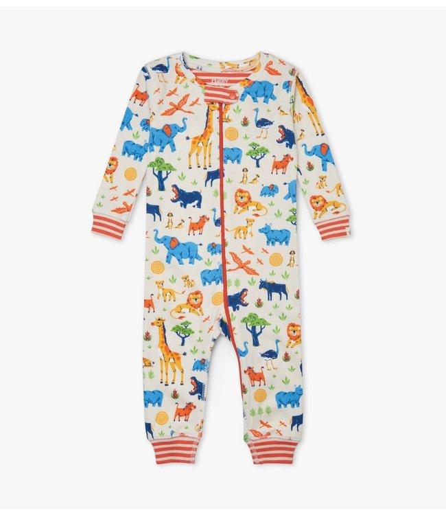 Hatley Wild Safari Pyjama Onesie zonder voet - Organic Cotton