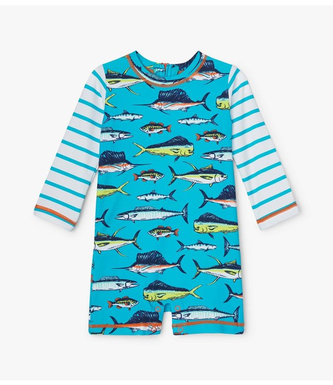 Hatley Baby Zwempak one-piece Cool Fish UV Factor 50+