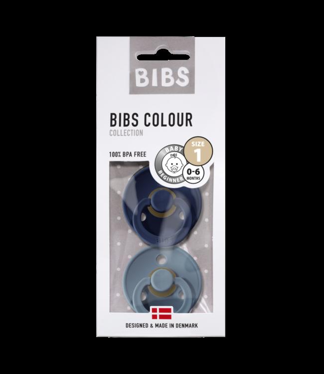 Bibs Bibs speen natuurlijk rubber set van twee maat 1 (0-6 maanden) Petrol / Island Sea