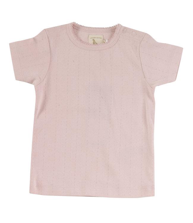 Pigeon Pointelle T- shirt Pink