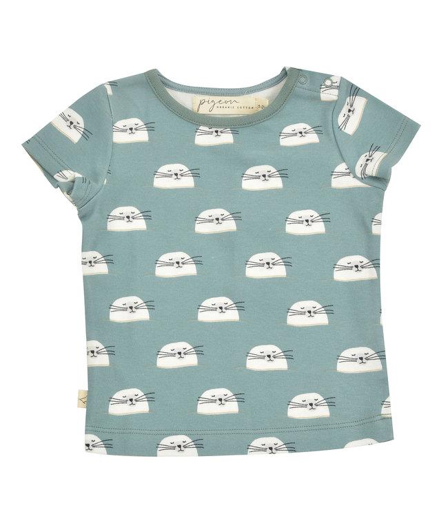 Pigeon T-shirt Korte Mouw GOTS Seal Ivy