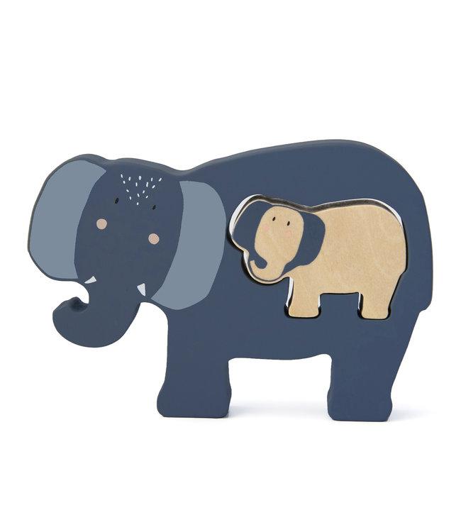 Trixie Houten Babypuzzel (Duurzaam FSC Hout) Mrs. Elephant