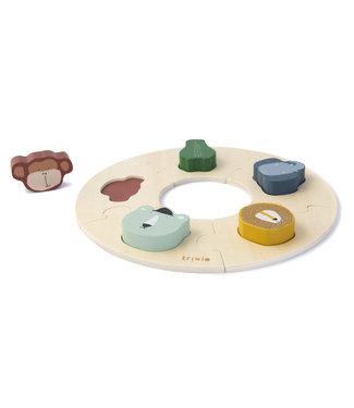 Trixie Houten dieren ronde puzzel (Duurzaam FSC Hout)